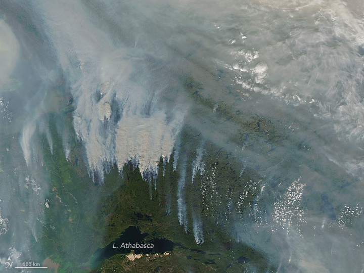 Record-Breaking Smoke Over Canada - related image preview