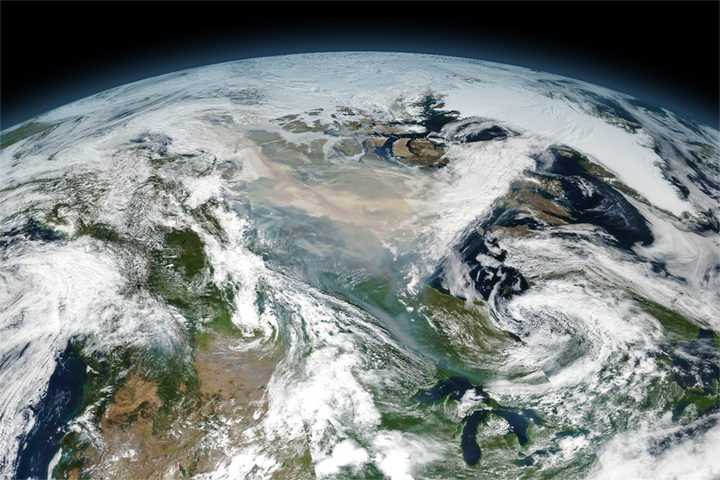 Record-Breaking Smoke Over Canada - selected image