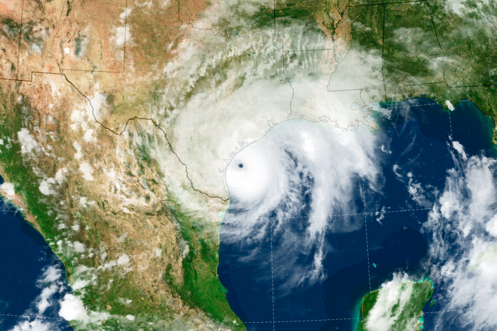 Hurricane Harvey Approaches Texas