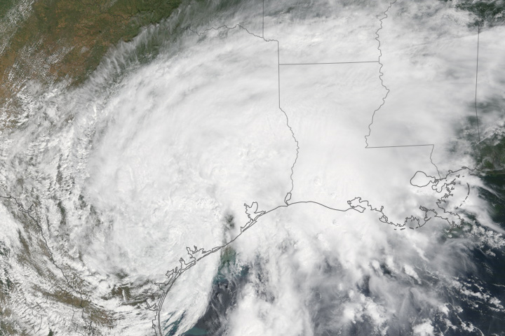 Harvey Stalls Over Southeastern Texas