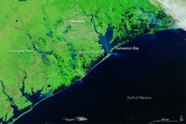 NASA Satellite Observes Flood Waters Across Texas