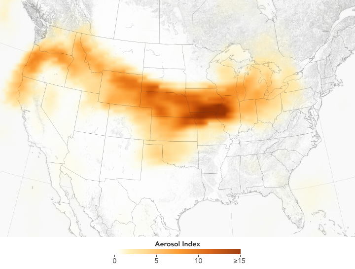 Smoke Pall Spans the United States