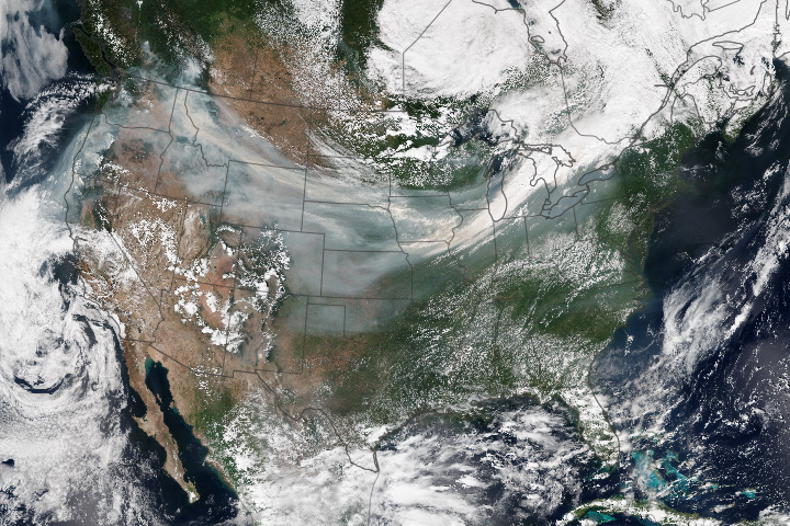 Smoke Pall Spans the United States - selected image