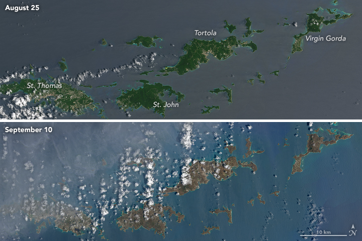 NASA: Hurricane Irma Turns Caribbean Islands Brown