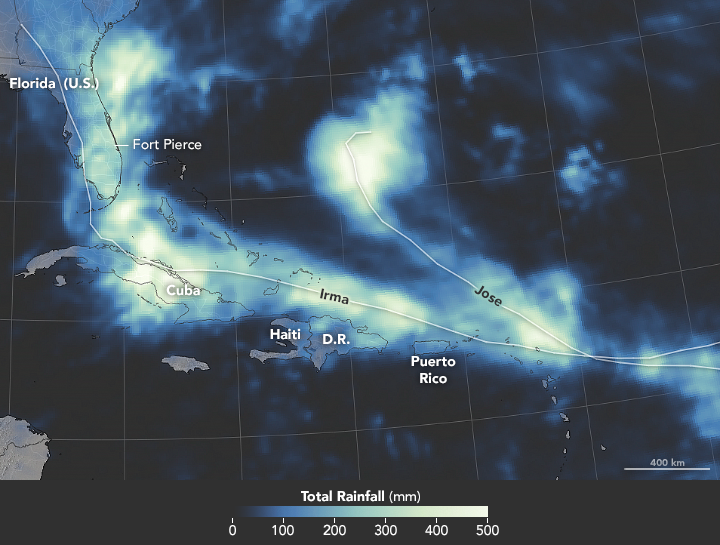 Rainy Fingerprints of Irma