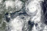 Two Cyclones Stir Up Asian Waters