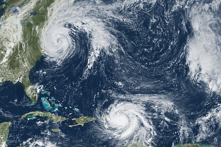Maria and Jose Menace the Caribbean and North Atlantic