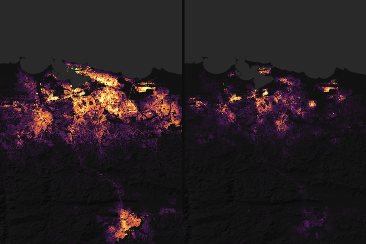 Pinpointing Where Lights Went Out in Puerto Rico - selected image