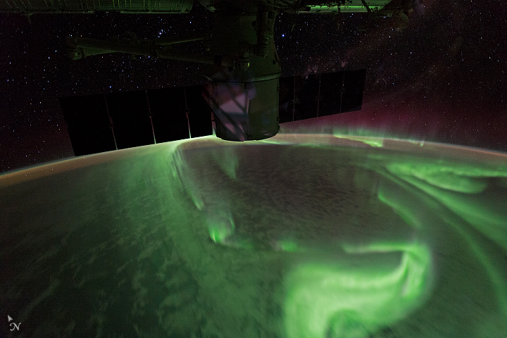 Southern Lights near the Great Australian Bight