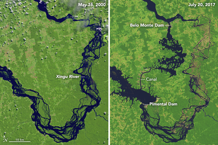 Reshaping the Xingu River