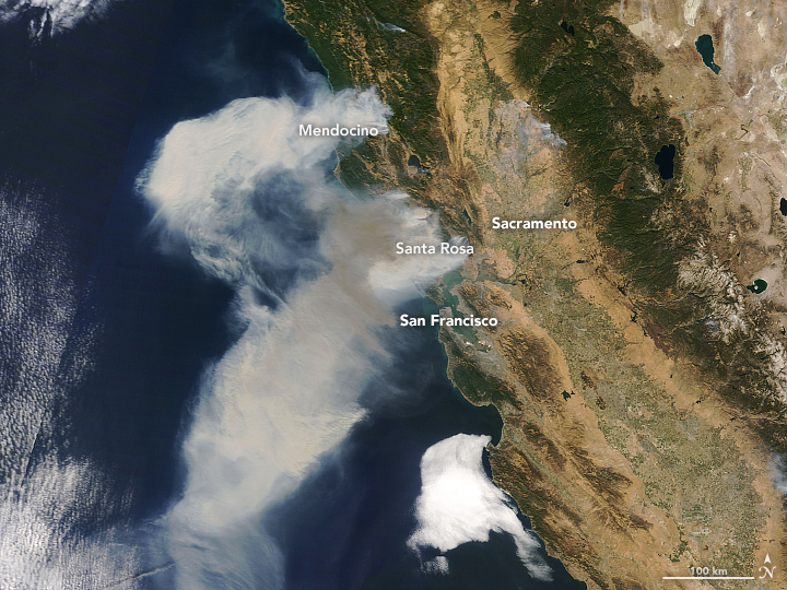Explosive Fires in Northern California