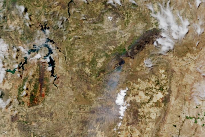 Fire Chars Brazil's Chapada dos Veadeiros National Park