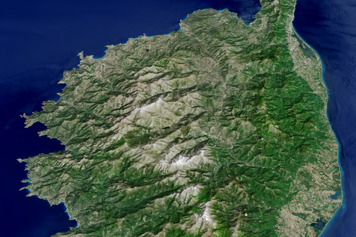 The Mountainous Spine of Corsica