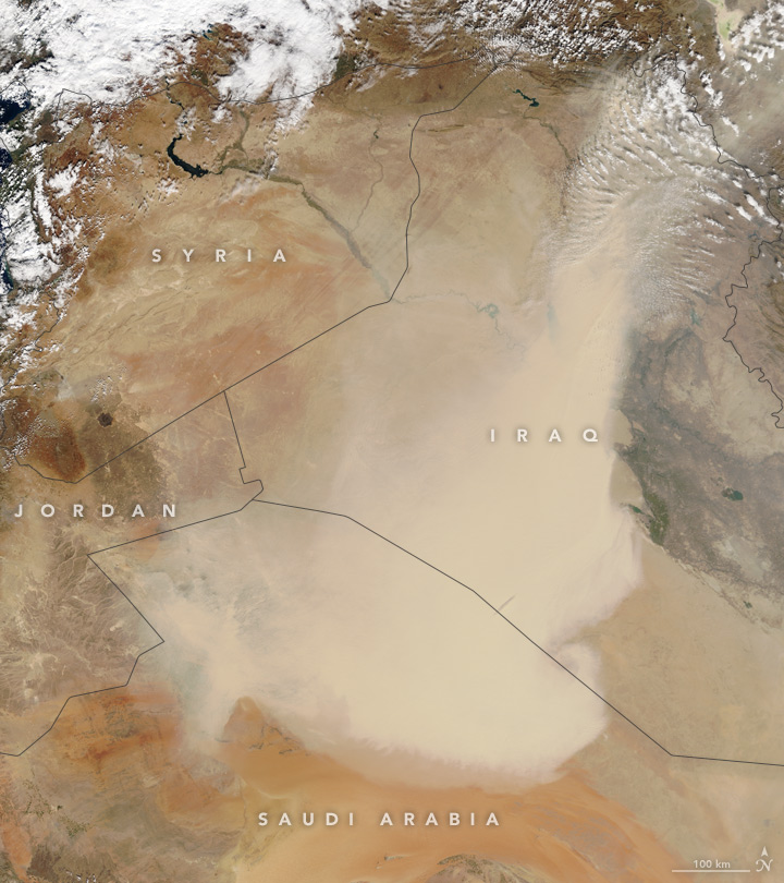 Dust Blankets the Middle East