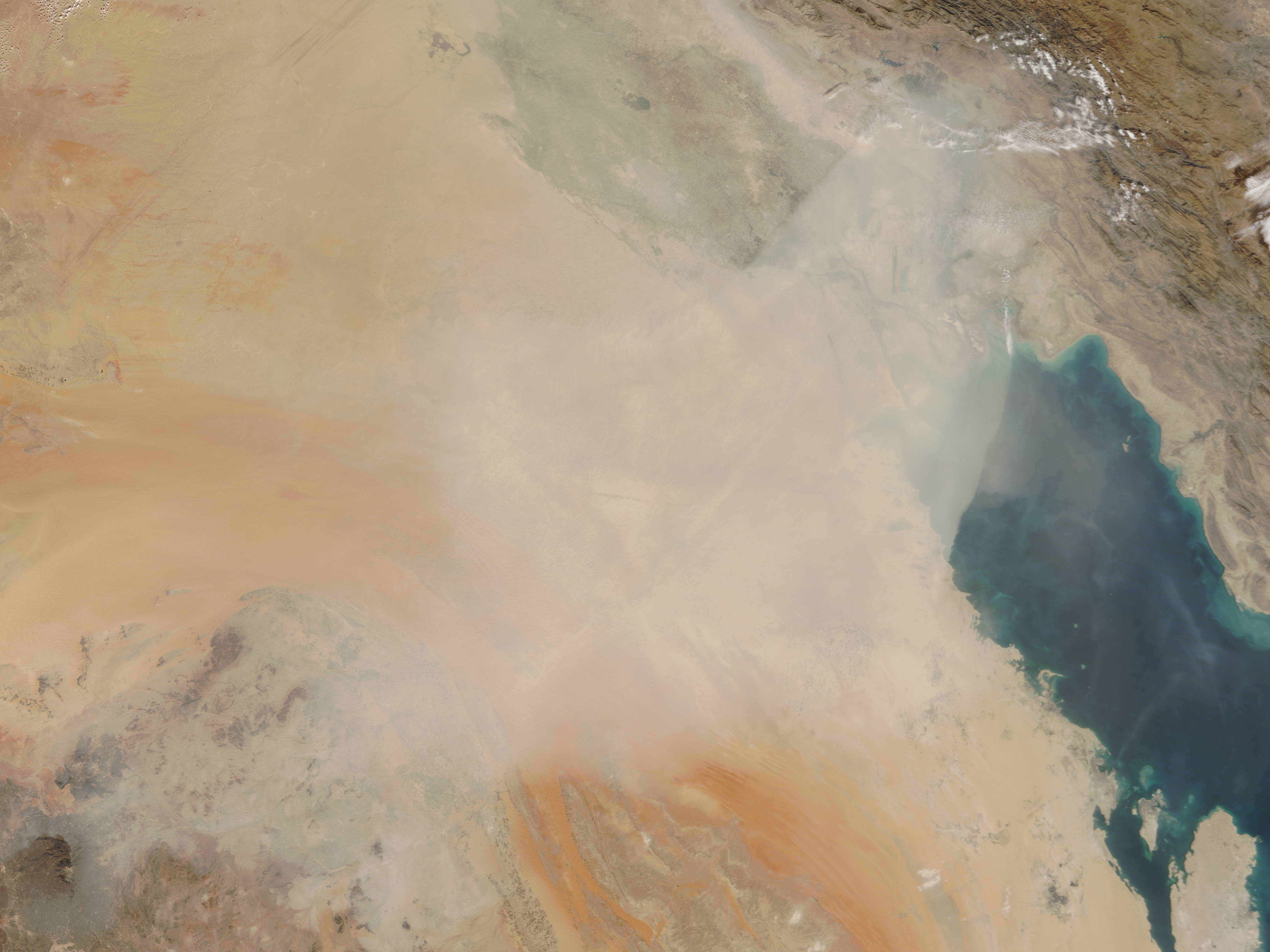 Dust Blankets the Middle East - related image preview