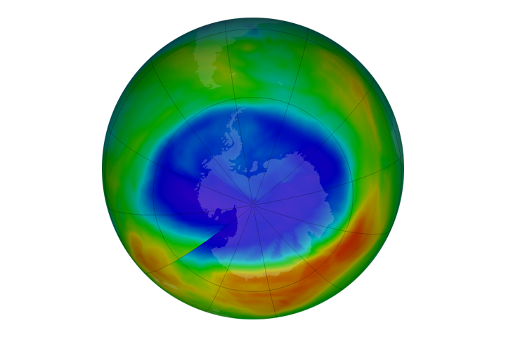 Ozone Hole is Smallest Since 1988