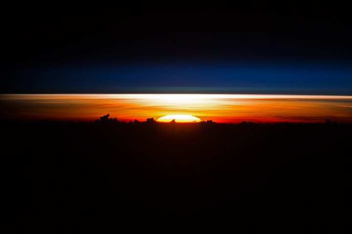 Sunrise over the Philippine Sea