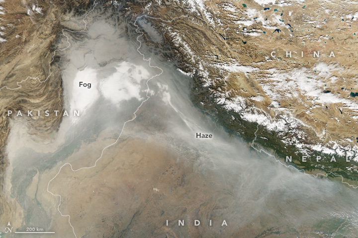 Haze Blankets Northern India