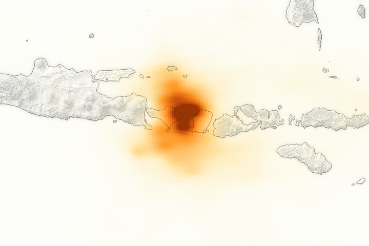 Tracking the Sulfur Dioxide from Mount Agung - selected image