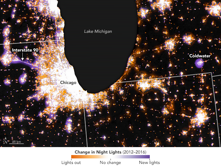 Observing Changes in Nighttime Lights