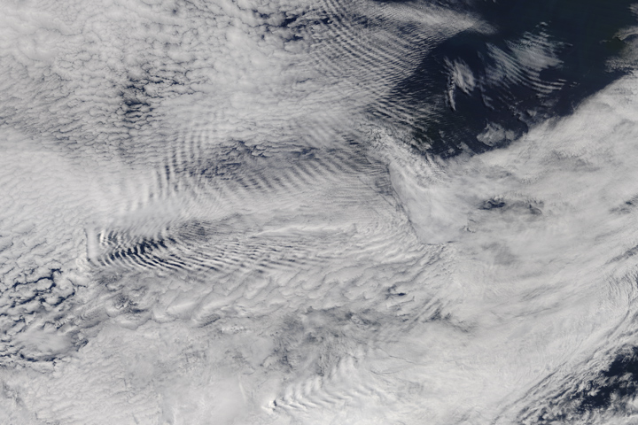 Waves in the Sky Behind the Auckland Islands