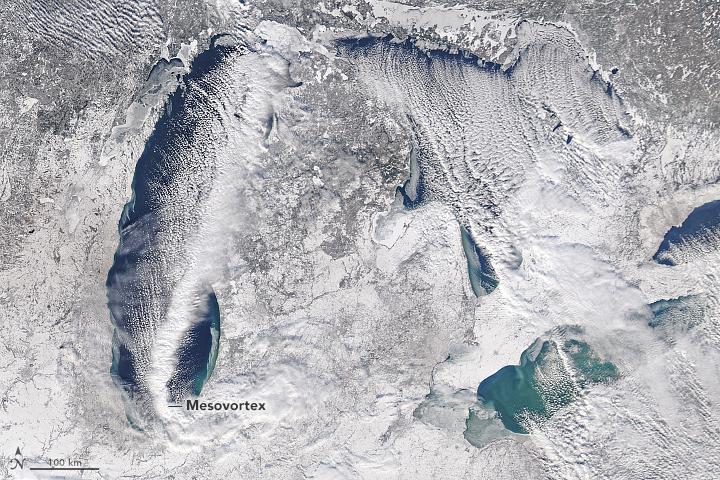 A Mesovortex Over Lake Michigan