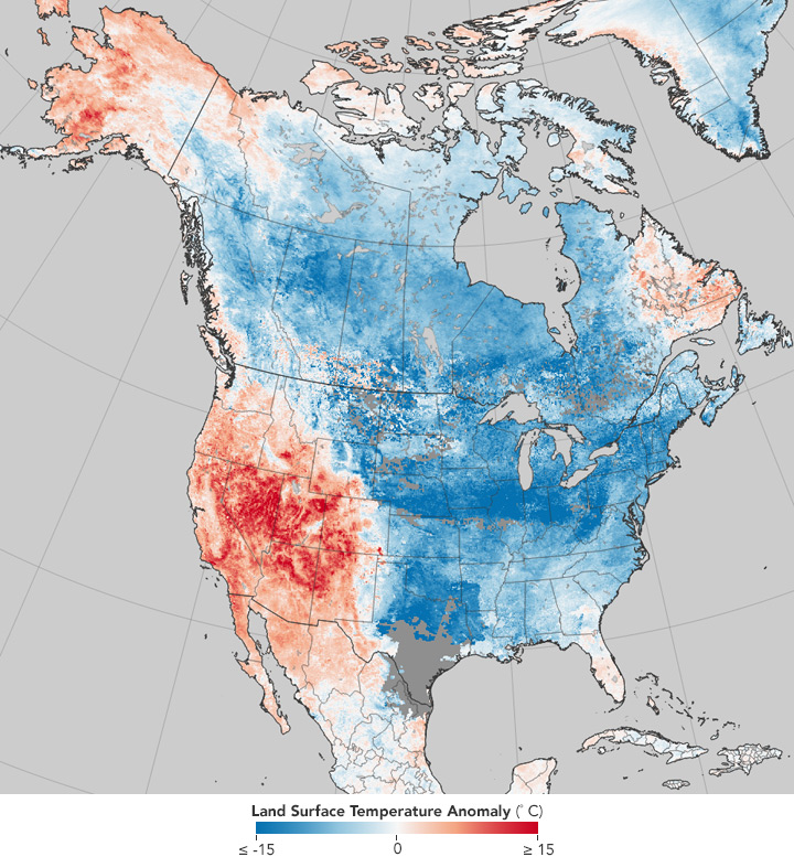 It's Cold—And Hot—in North America