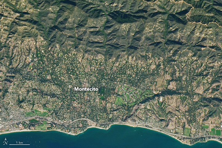 Deadly Debris Flows in Montecito