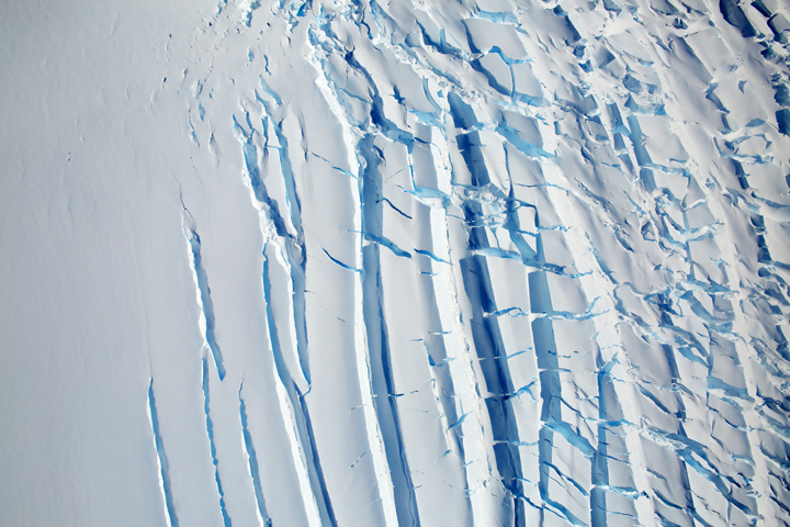 Signs of Flow Atop Antarctic Ice - selected image