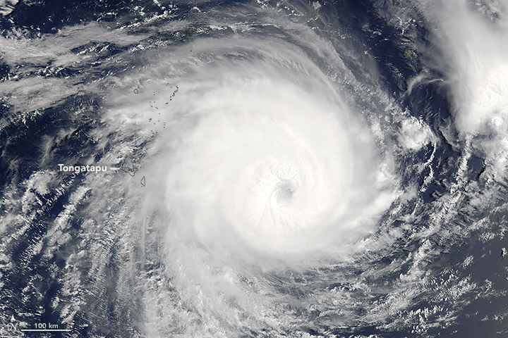 Tropical Cyclone Gita Slams Tonga