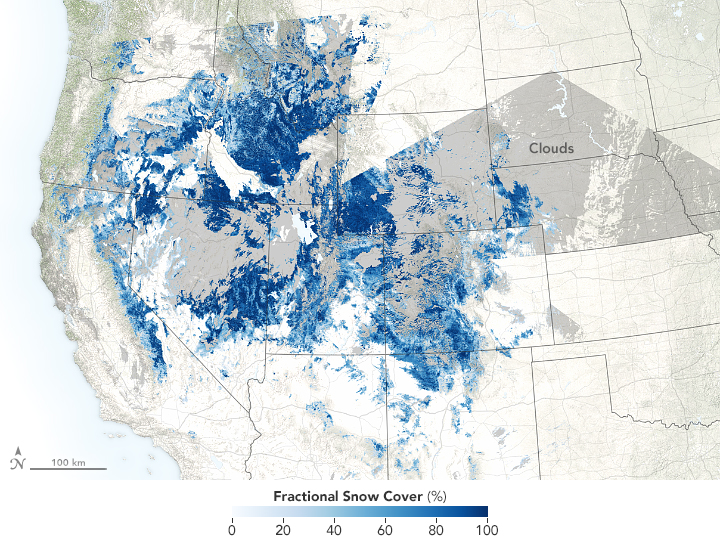 Snow Drought in the Rockies
