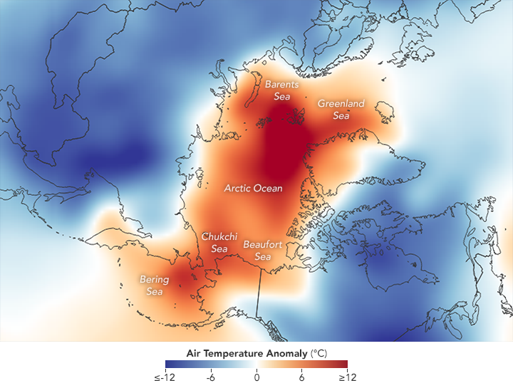 Low Sea Ice Amid Arctic Warming  - related image preview