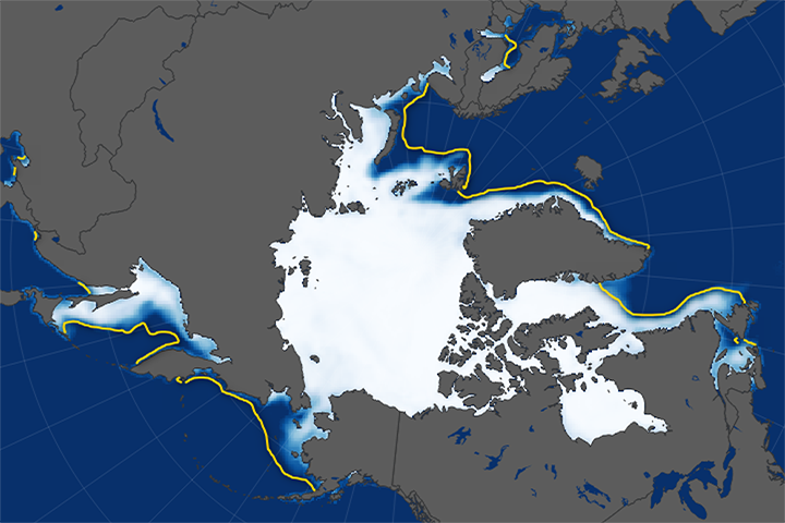 Low Sea Ice Amid Arctic Warming