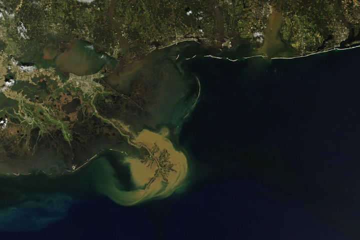 Sediment Plume off the Louisiana Coast - selected image