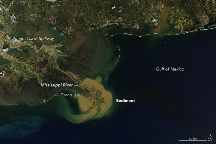 Sediment Plume off the Louisiana Coast