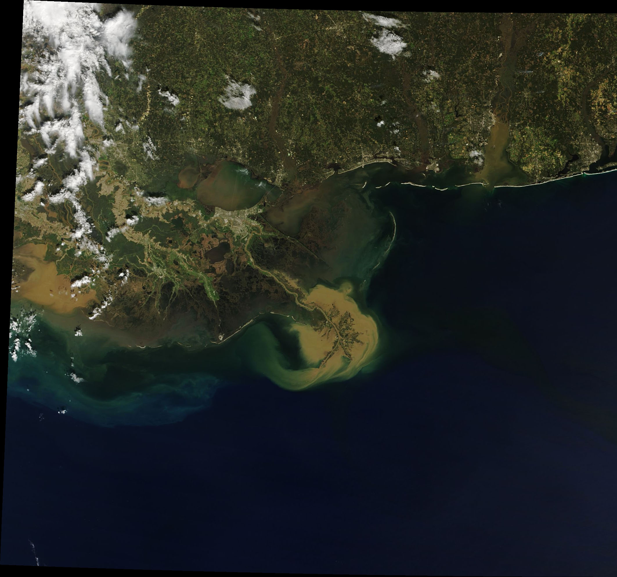 Sediment Plume off the Louisiana Coast - related image preview