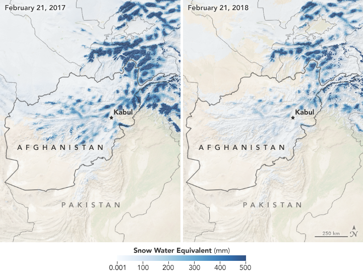 Record Low Snowpack in Afghanistan