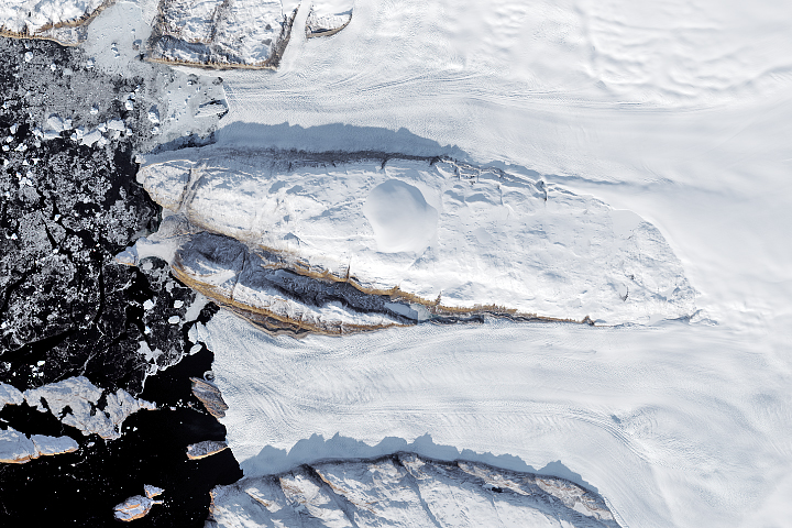 Decline of Two Glaciers in Northwest Greenland - selected image