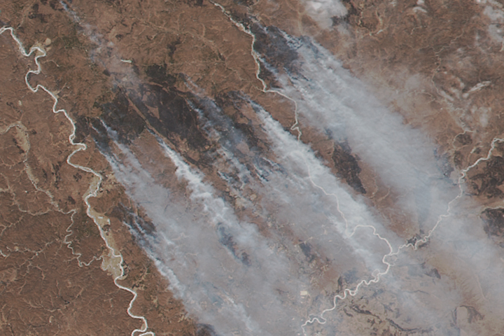 Forest Fires in Russia's Far East