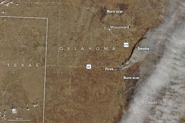 Fires Rage in Oklahoma