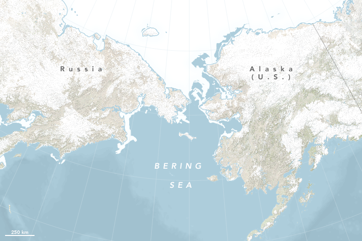 Historic Low Sea Ice in the Bering Sea