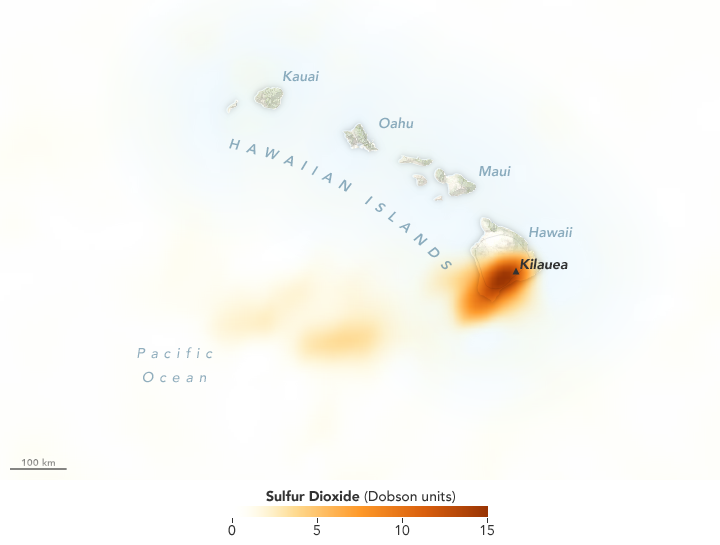 Sulfur Spews from Kilauea
