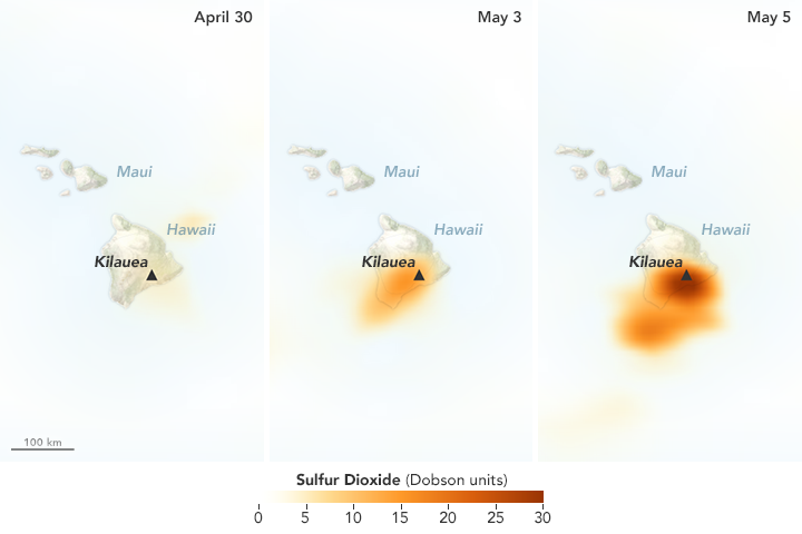 Sulfur Dioxide Leaks from Kilauea