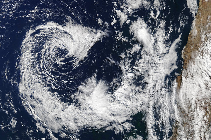 A Seldom Seen South American Cyclone