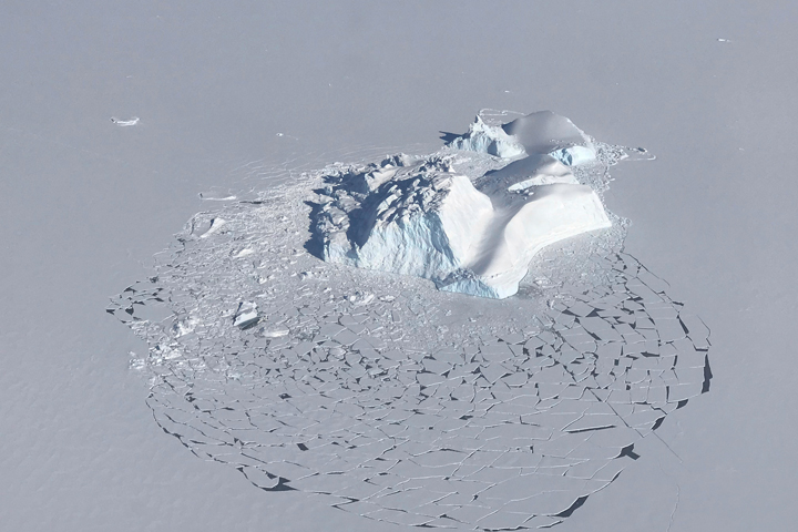 When Land Ice Meets Sea Ice