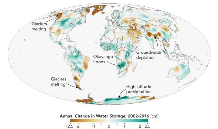 Twin Satellites Map 14 Years of Freshwater Changes