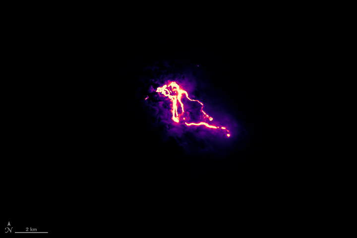 The Infrared Glow of Kilauea's Lava Flows - related image preview