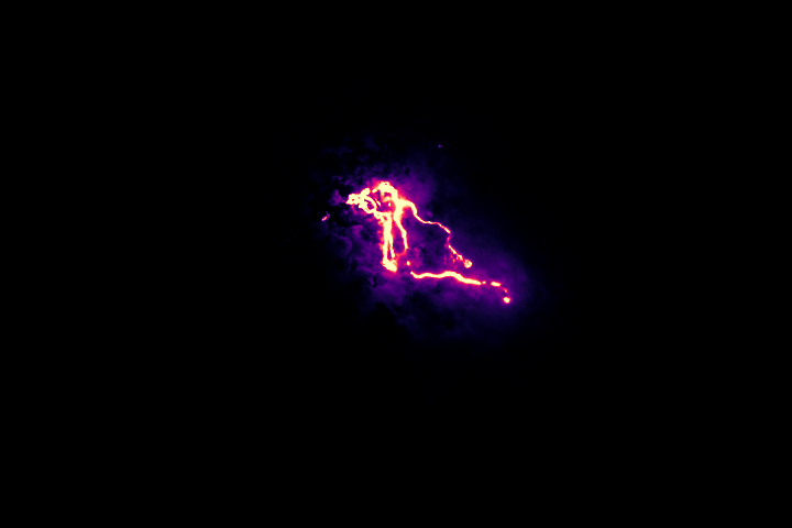 The Infrared Glow of Kilauea's Lava Flows - selected image