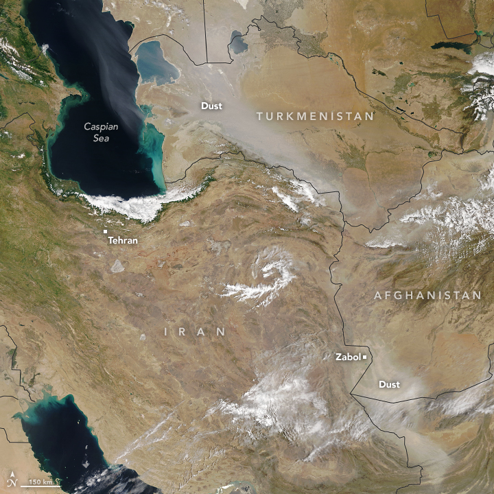 Powerful Dust Storms in Western Asia