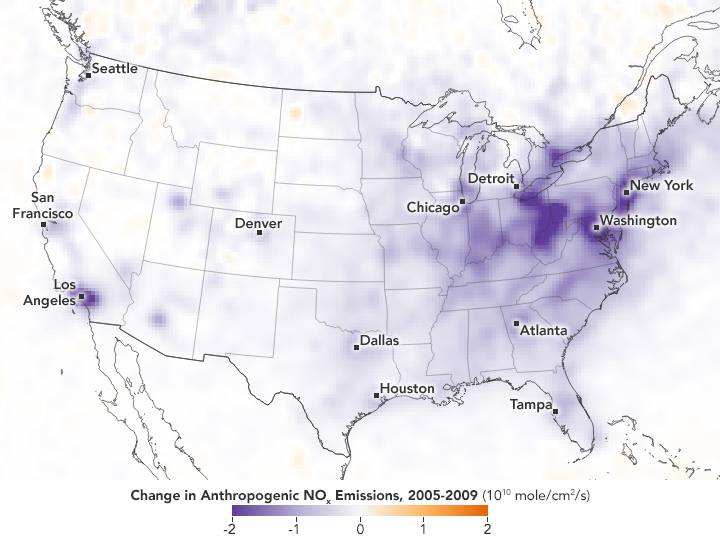 Pollutant Emissions Leveling Off a Bit in the U.S.